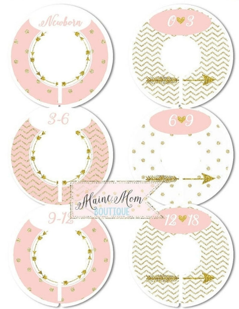 FULLY ASSEMBLED Closet Dividers Organizers Baby Girl Shower image 0