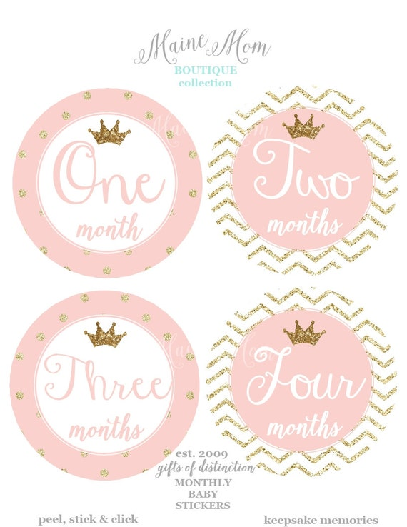 huge sale baby girl monthly stickers baby girl month etsy