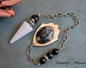 White Aventurine Pendulum : Remembrance Collection