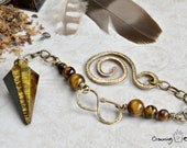 Tiger's Eye Pendulum ~ Snake Tails: The Witch's Cauldron