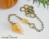 Heat Treated Citrine Pendulum - Golden Honey