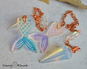 Opalite Mermaid Tail Pendulum ~ Adrift Collection