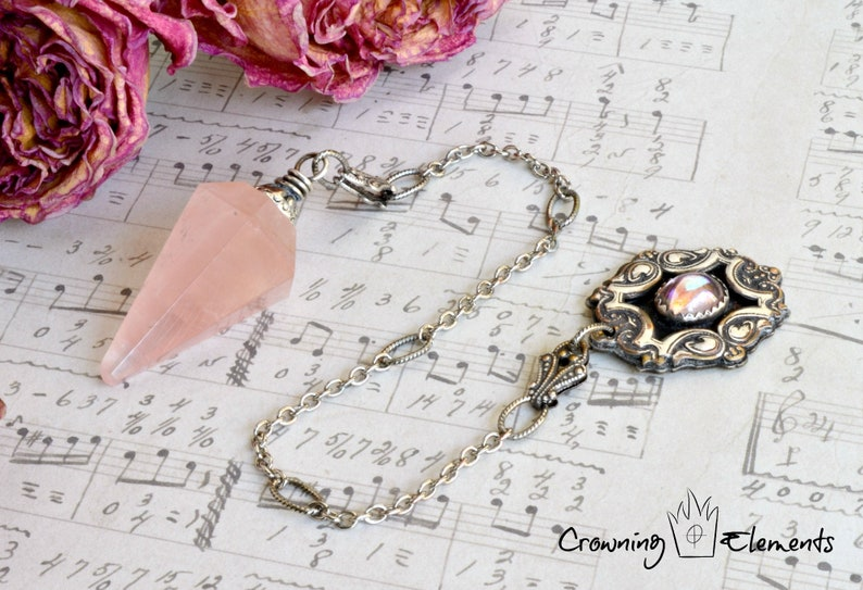 Rose Quartz Pendulum : Remembrance Collection image 0