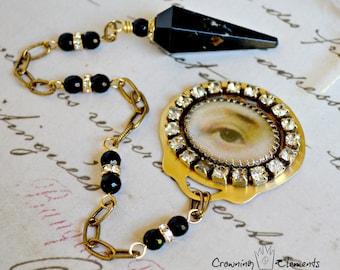 Black Tourmaline Lover's Eye Pendulum : Remembrance Collection
