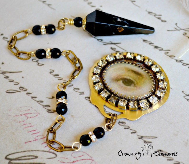 Black Tourmaline Lover's Eye Pendulum : Remembrance image 0