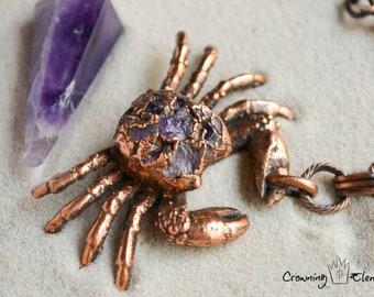Amethyst Crab Pendulum ~ Adrift Collection