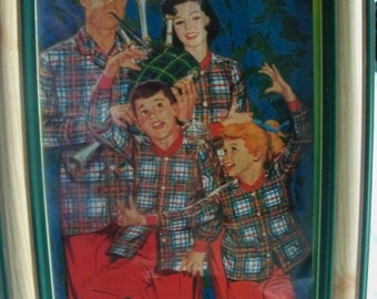 christmas family pajamas how fun  in a frame