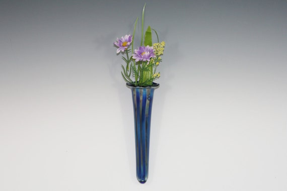 Glass Wall Vase Hanging Vase Wall Pocket Wall Sconce Etsy