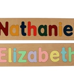 Name Puzzle - Personalized - Preschool - Raised Letters - Wooden - Educational - First Birthday - Mixed Case Letters  - Toddlers Puzzle