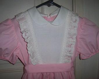 7dd8ec4b1b2 Sale EASTER Vintage SYLVIA WHYTE Size 5 girls dress. Pink