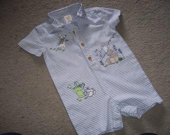 b1cef87c9c13 PETER RABBIT Easter Bunny Vintage Style Baby Boy Romper one-piece GYMBOREE 6-12m  Shortalls
