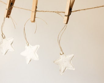 READY TO SHIP Handmade Paper Gift Tags-Stars, Set of 6