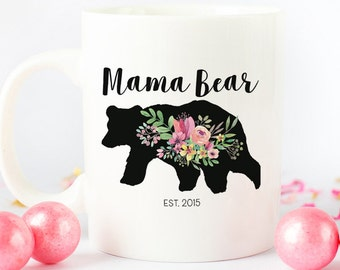 Mama Bear mug, New mom coffee mug for mama bear, gift for moms, mommy coffee mug, mama bear coffee mug, new mom gift