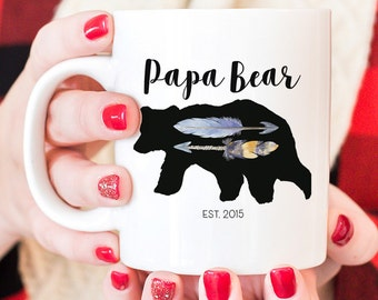 Papa Bear mug, New dad coffee mug for papa bear, gift for dads, Daddy coffee mug, papa bear coffee mug, new dad gift, gift for new parents