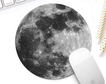 Moon mouse pad, full moon mouse pad, moon surface mouse pad, moon mousepad, modern office decor, space enthusiast decor, space lover decor