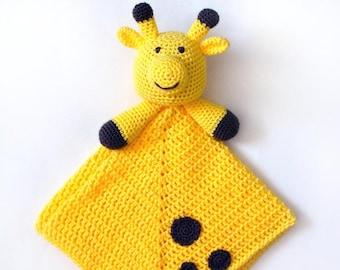 Giraffe Security Blanket - PDF Crochet Pattern - Instant Download
