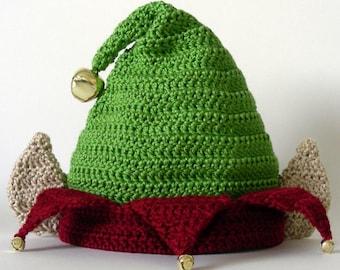 Elf Hat (5 Sizes) - PDF Crochet Pattern - Instant Download cd2ef29f1e6