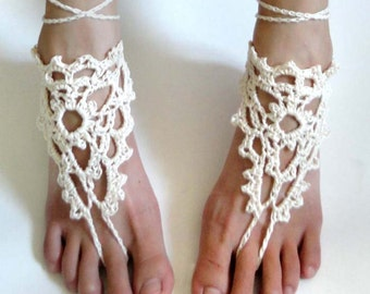 f65717d641245 Lacy Triangle Barefoot Sandals - PDF Crochet Pattern - Instant Download