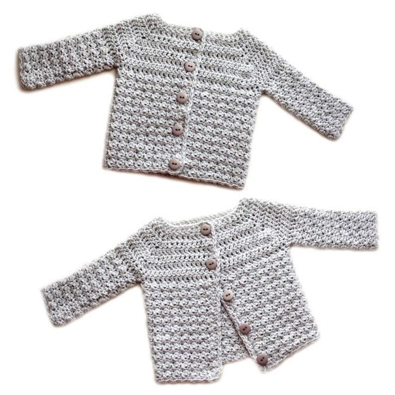 4de721cc8 Cozy Baby Cardigan Sweater 5 Sizes PDF Crochet Pattern