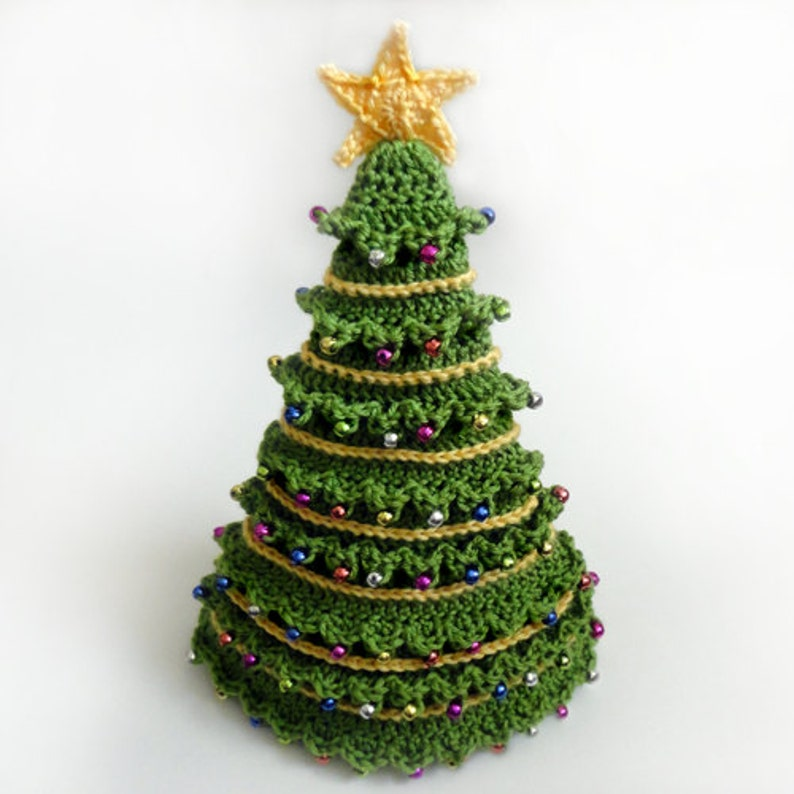 Christmas Tree Hat 5 Sizes Pdf Crochet Pattern Instant Etsy