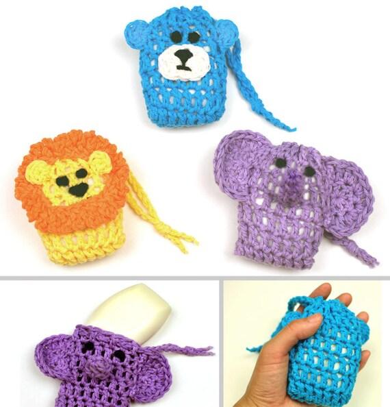 Animal Soap Savers Pdf Crochet Pattern Instant Download Etsy