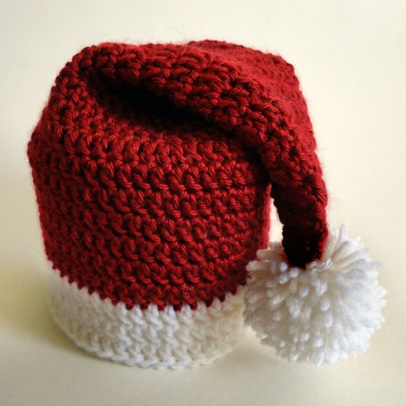 Santa Hat Toilet Paper Roll Cover Pdf Crochet Pattern Etsy