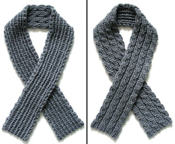 Reversible Cable Scarf Pdf Crochet Pattern Instant Etsy
