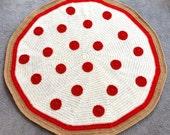 Pepperoni Pizza Blanket - PDF Crochet Pattern - Instant Download
