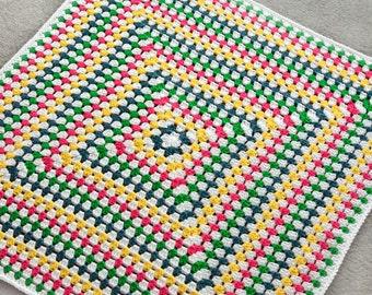 Solid Granny Square Blanket - PDF Crochet Pattern - Instant Download