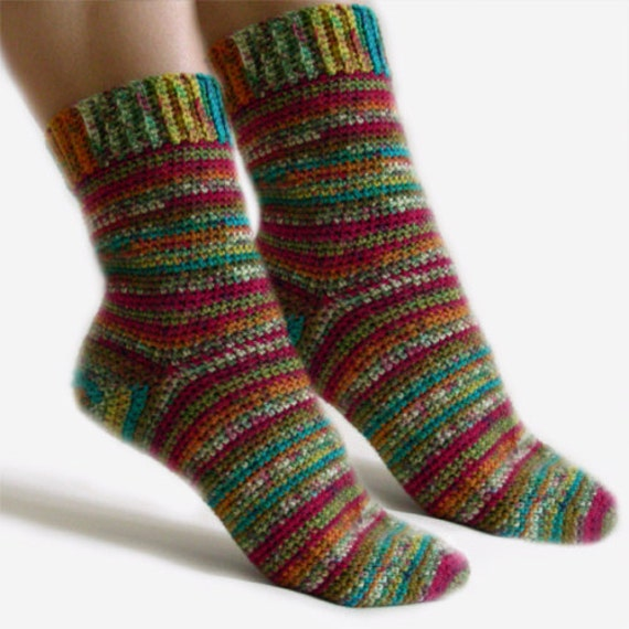 Easy Adjustable Socks Pdf Crochet Pattern Instant Download Etsy