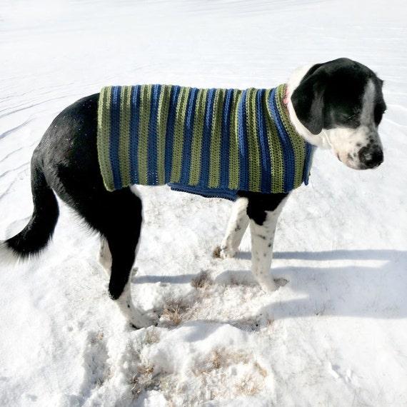 Easy Adjustable Dog Sweater Coat PDF Crochet Pattern | Etsy