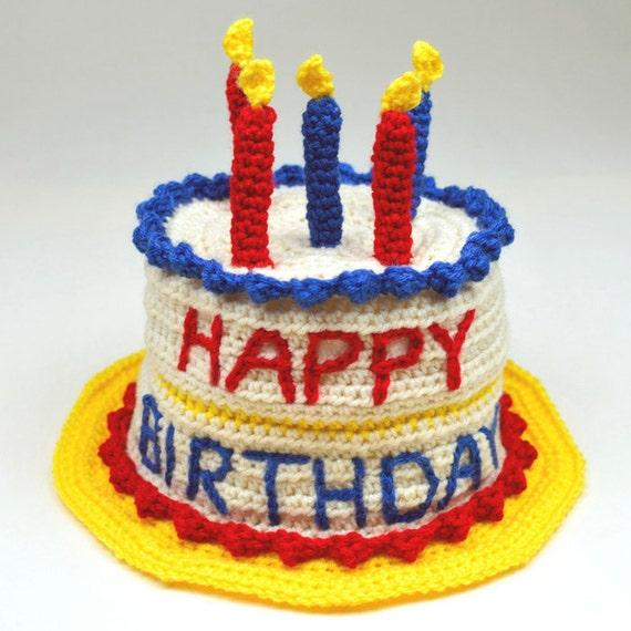 Birthday Cake Hat - 5 Sizes - PDF Crochet Pattern - Instant Download
