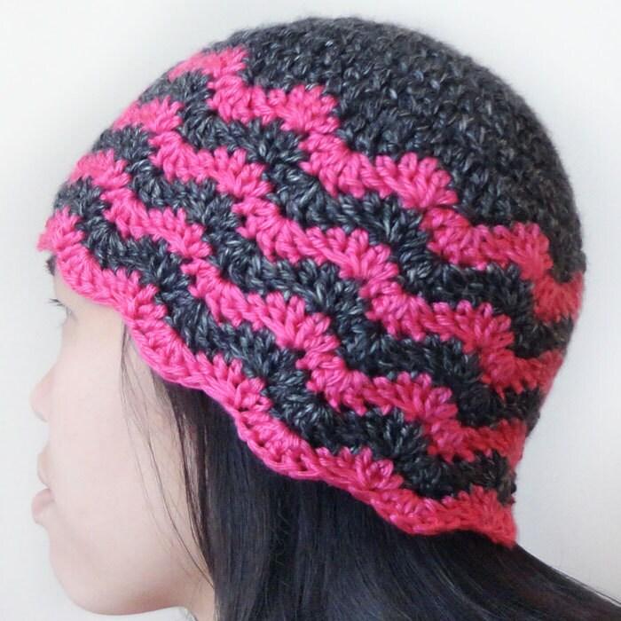 Chevron Beanie 5 Sizes Pdf Crochet Pattern Instant Etsy