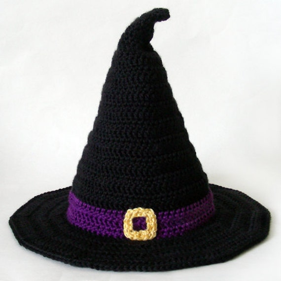 Witch Hat 5 Sizes Pdf Crochet Pattern Instant Download Etsy