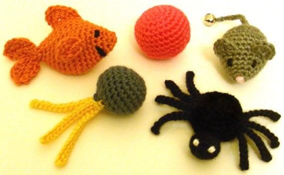 5 Quick Cat Toys Pdf Crochet Pattern Instant Download Etsy