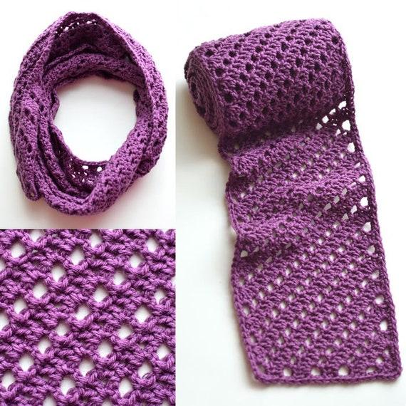 Diagonal Striped Scarf Pdf Crochet Pattern Instant Etsy