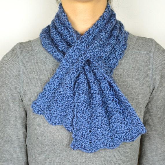Subtle Chevron Keyhole Scarf Pdf Crochet Pattern Instant Etsy
