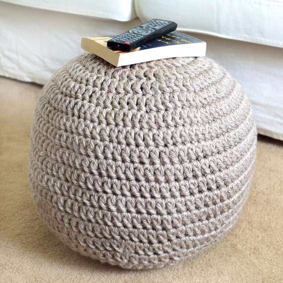 Astonishing Easy Adjustable Pouf Ottoman Pdf Crochet Pattern Instant Download Pdpeps Interior Chair Design Pdpepsorg