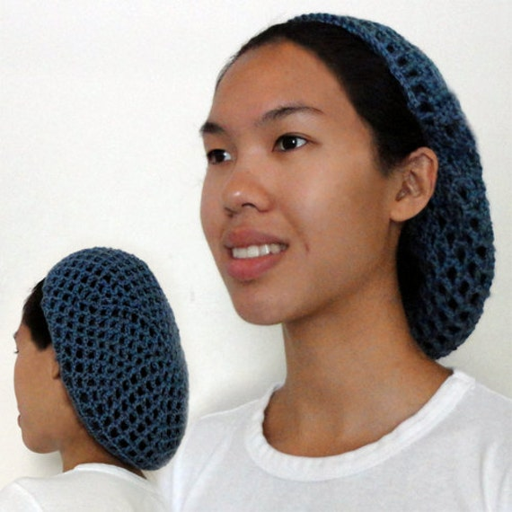 Netted Hair Snood Pdf Crochet Pattern Instant Download Etsy