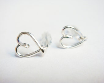 Valentines Jewelry   Tiny Heart Earrings   Valentines Gift    Sterling Silver Earrings    Stud Earrings   Silver Heart Earrings
