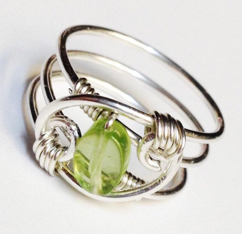 Peridot Ring Peridot Gemstone Ring Natural Peridot Ring image 0