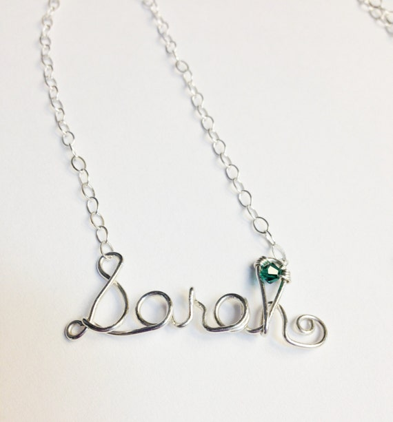 Draht Namen Halskette Draht Wort Halskette personalisierte