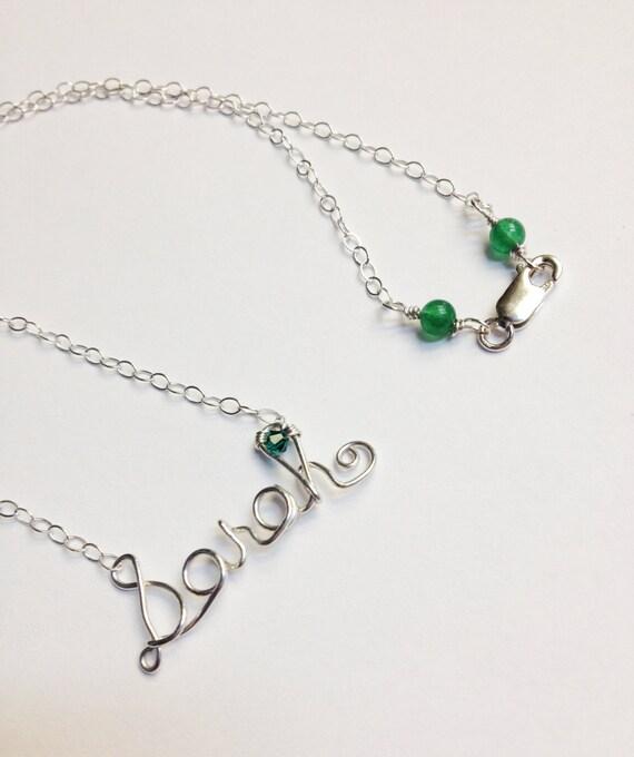 Draht Namen Halskette Draht Wort Halskette personalisierte   Etsy