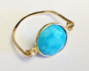 Turquoise Ring   Turquoise Bezel Ring   Turquoise Jewelry   December Birthstone  December Ring