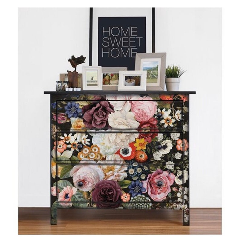ReDesign with Prima Wondrous Floral  Decor Rub On Transfer 22 x 34 for Furniture DIY Projects and Home Decor