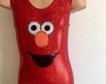 Elmo Inspired Gymnastics Dance Biketard. Dancewear. Elmo Performance Costume. Toddlers Child Elmo Costume. SENDesigne Leotards. & Elmo leotard   Etsy