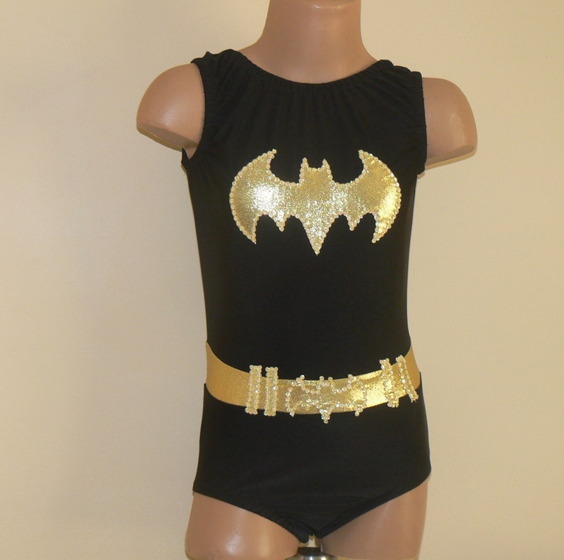 5b4b04f8984b BATGIRL Inspired Toddlers Girls Leotard Batgirl Gymnastics