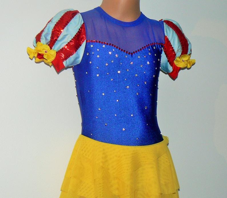 Competition Skating Dress SENDesigne Costumes Toddlers Girls Figure Skating Dress Snow White Inspired Figure Skating Dress Dancewear