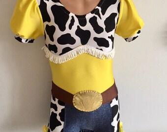 Cowgirl  Inspired Biketard. Performance Biketard. Gymnastics Biketard. Western Girl Costume. SIZES 2T - Girls 12