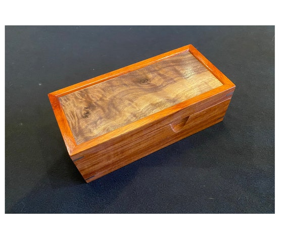 Walnut and Padauk Wood Box #124